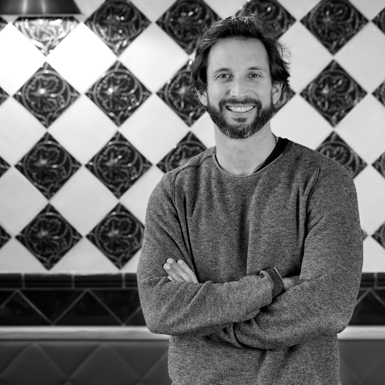 Chef José Avillez pictured in Tasca Chic. Tasca Chic is one of 3 new restaurants by José Avillez Group in the Gourmet Experience of El Corte Inglés Lisbon